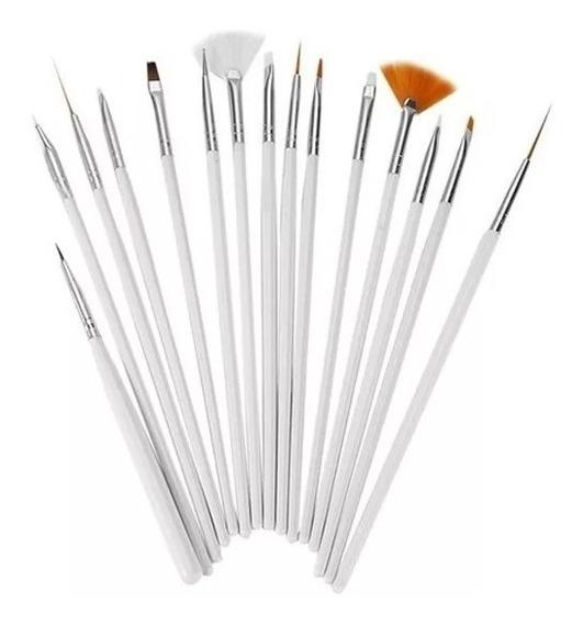 Pinceles Deco Uñas X 15 / Nail Art /