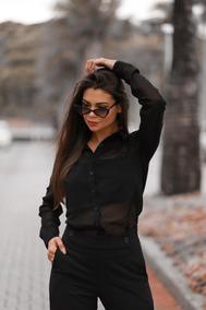 Roupa Feminina/camisa Preta