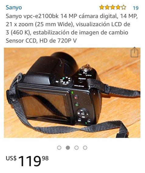 Camara Semi Profesional Sanyo Vpc-e2100bk