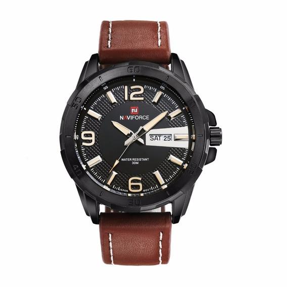 Relógio Naviforce Estilo Militar Luxo Modelo Nf9055