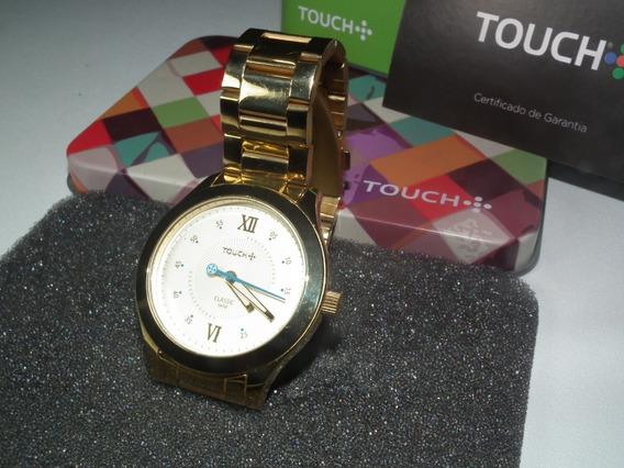 Relógio Feminino Touch Dourado