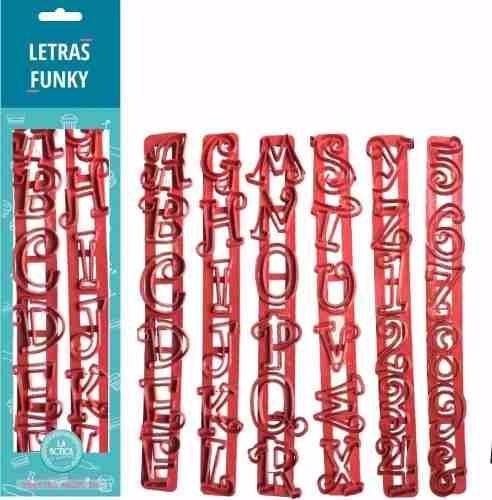 Cortante Letras Funky Letras Y Números