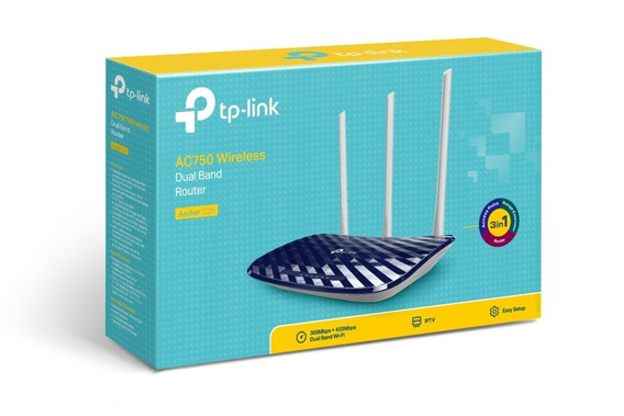 Router Inalambrico Banda Dual Tp-link Ac750 Archer C20 3ant.