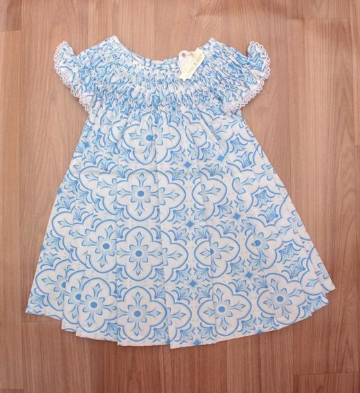Vestido Casinha De Abelha Azul - Azul Claro