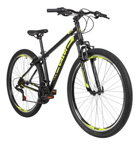 Bicicleta Velox Aro 29 Quadro 17 Alumínio Preto/verde- Caloi