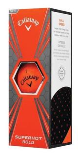 Kaddygolf Pelotas Golf Callaway Superhot - Tubo X3 - Naranja