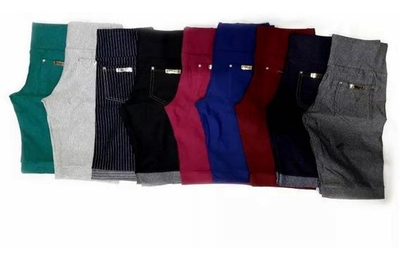 Kit C/5 Bermuda Feminina Cotton Jeans Ciclista