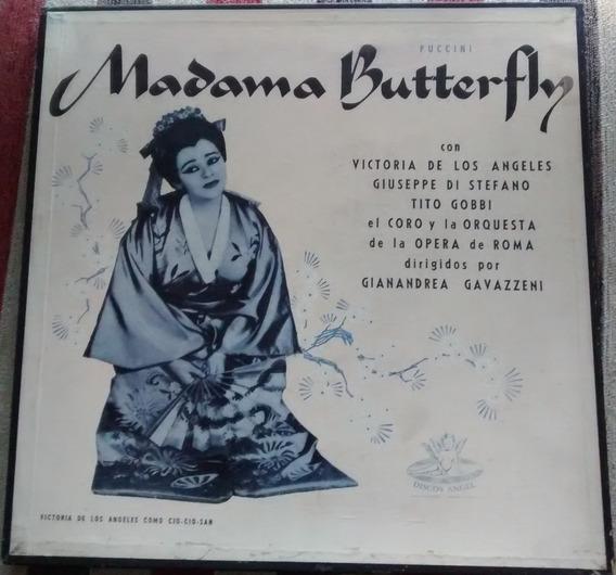 Disco De Vinilo-madame Buterfly-puccini- Caja Con 2 Lp