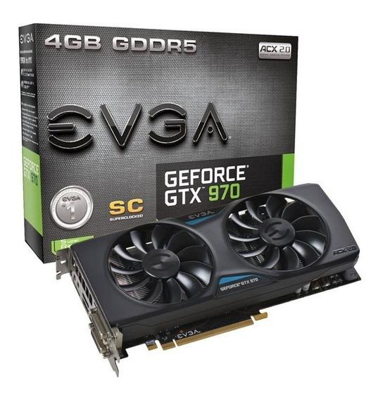 Placa De Video Evga Geforce Gtx 970 4gb Ddr5 256bits