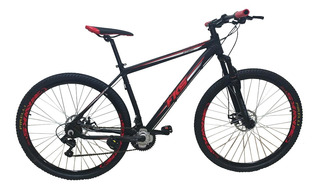 Bicicleta 29 Fks Start Vermelha 21v Tourney Freio Mecânico