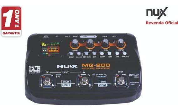 Pedaleira Nux Mg200 Loop Delay Reverb / Garantia De 1 Ano