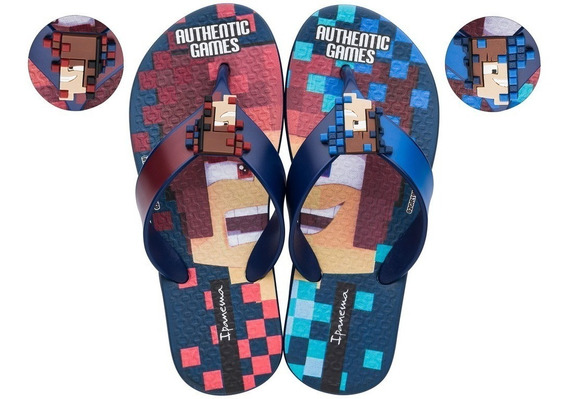 Chinelo Infantil Masculino Authentic Games 26306 Novo