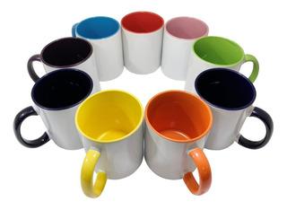 12 Taza Interior Y Asa De Color Para Sublimación Colormake