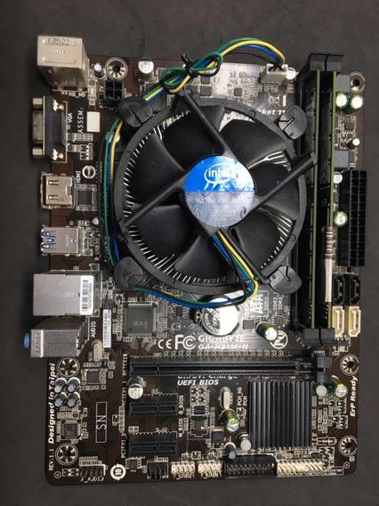 Kit I3 4150 3.5ghz + 8gb Ddr3 1333mhz + Gigabyte Ga-h81m-h