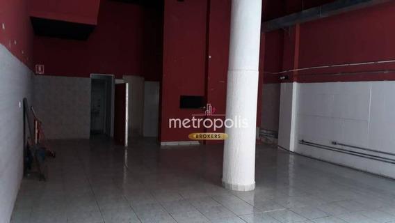 Salão Para Alugar, 120 M² Por R$ 3.500/mês - Centro - São Caetano Do Sul/sp - Sl0143