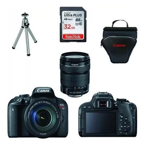 Câmera Canon Rebel T7i 18-135mm Stm+ 32gb+ Bolsa+ Tripé