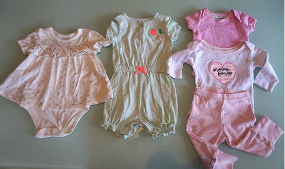 Lote Bebé Niña Pañalero Jumpsuit Pantalón Vestido Camis 6-9m