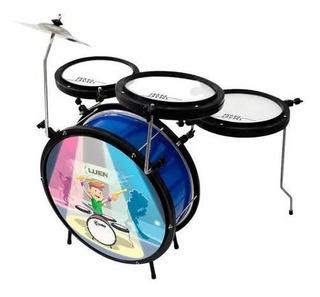 Bateria Infantil Luen Smart Drum Percussion Azul