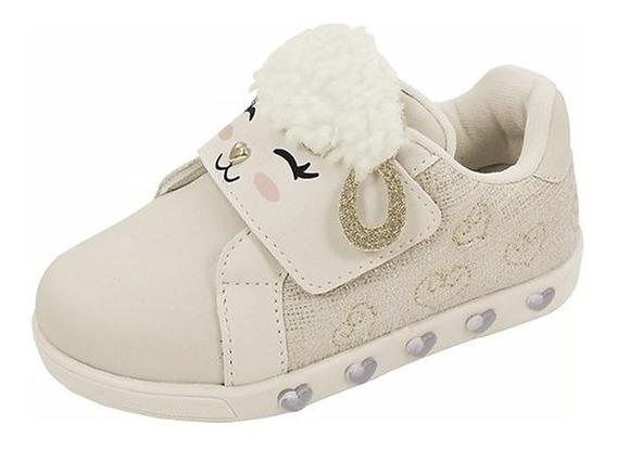 Tênis Frete Off Pampili Sneaker Luz Nude 010421