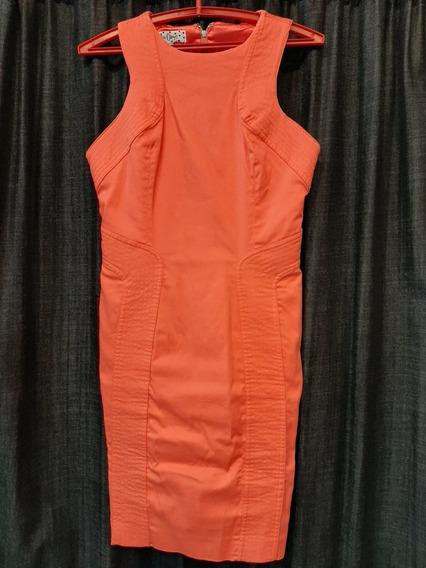 Vestido Las Oreiro Usado Talle M/l (1 Postura) Gabardina