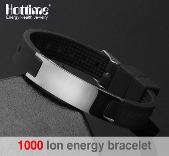 Pulseira Magnética Fir Energética Ion Bracelete Silicone Uni