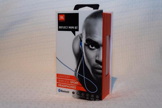 Fone De Ouvido Esportivo Jbl Reflect Mini Bluetooth Azul 12x