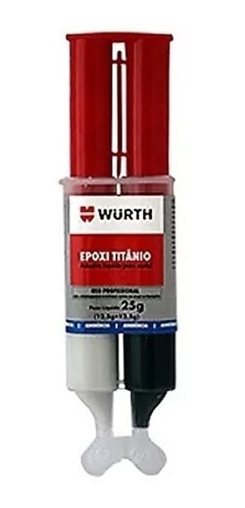 Cola Epoxi Titanium Aço Alumínio Ferro Cobre Metal Wurth