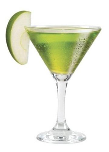 Imagen 1 de 2 de Set De 6 Copas De Vidrio Para Martini De 274 Ml. De Vidrio