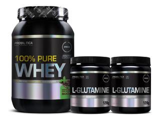 100% Pure Whey 900g - 2x L-glutamine 120g
