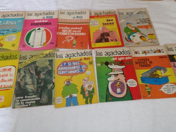 Lote De 11 Revistas Antiguas Los Agachados De Rius
