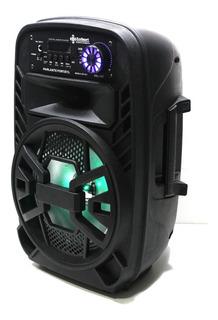 Parlante Karaoke Bluetooth Usb Luces Led Radio + Mic
