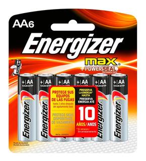 Pilas Alcalinas Max Aa Energizer X 6 Unidades