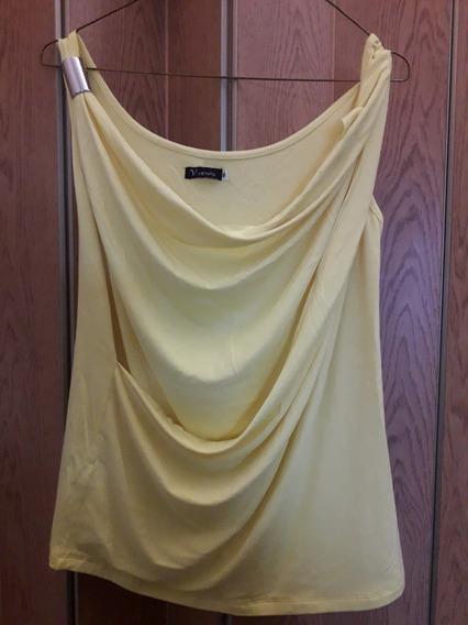 Musculosa Amarilla Dama Spandex Modelo Grigo Sin Uso