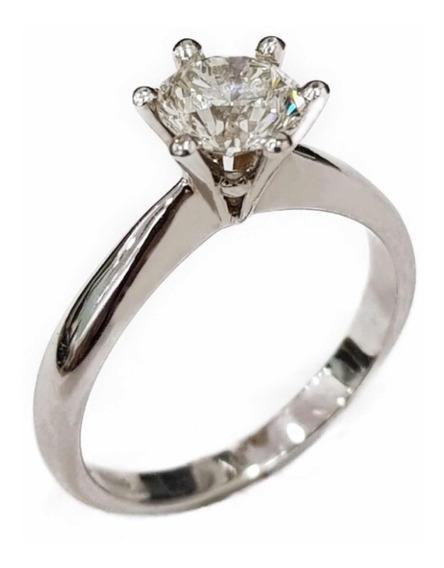 Anillo Compromiso Diamante Natural 1.02 Cts. Certif. Autent.