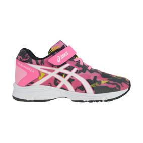 Tenis Inf Run Asics Pink/preto Pre Bounder 2a C014a