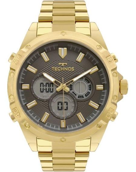 Relógio Technos Masculino Bj3814ab/1p - Ana-digi Original/nf