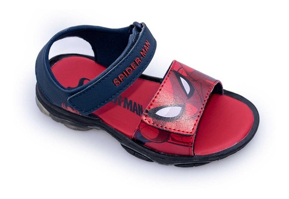 Sandalias Agua Marvel Con Luces Spiderman 23 Al 32 Fty