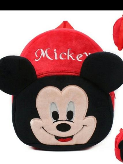 Mochila Infantil De Pelucia Mickey .