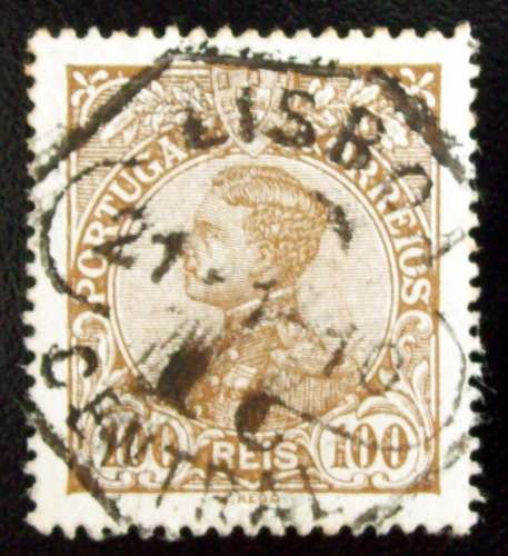 Portugal, Sello Yv. 163 100r Emanuel Ii 1910 Usado L6935