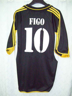 Real Madrid Fabulosa adidas Alterna 2001 #10 Figo Impecable