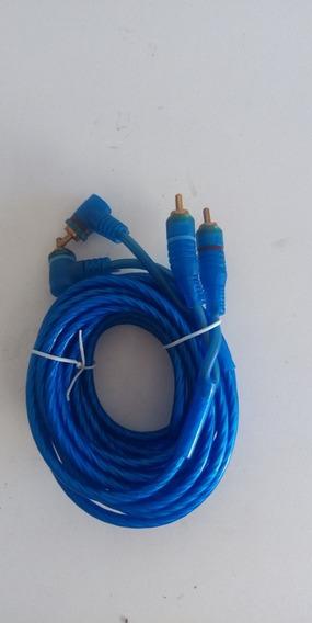 Cable Rca 2 Canales De 4.5mts Azul Al Mayor