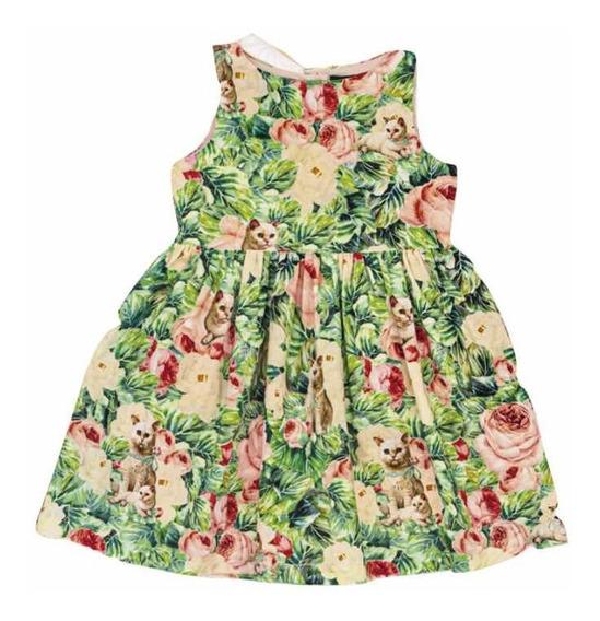 Vestido T 2 Y 8 Años Flores Little Akiabara Nuevo Temp 2020