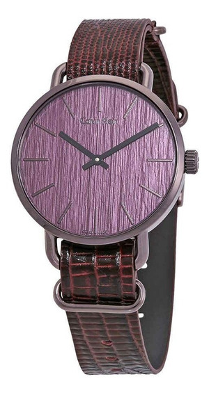 Nuevo Calvin Klein Reloj Purpura Hombre