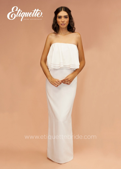 Vestido De Novia Boda Civil Cocktail Barato Bonito Blanco