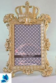 Porta Retrato Coroa Dourada Moldura Pronta Entrega