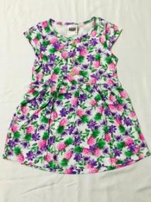 Tamanho 02 - Vestido Infantil Floral Abacaxi