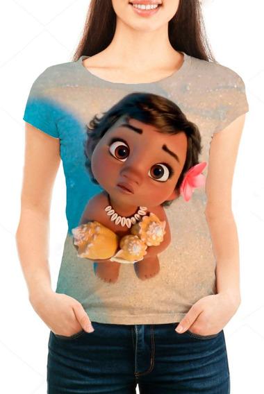 Camiseta Babylook Feminina Moana Baby
