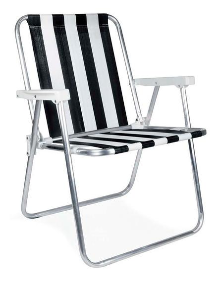 Cadeira Aluminio Praia Camping Várias Cores Mor