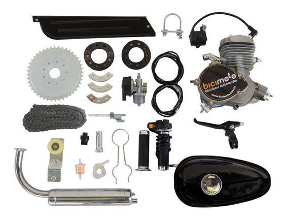 Kit Motor Bicimoto P/ Bicicleta 80cc 2t- Frete Grátis