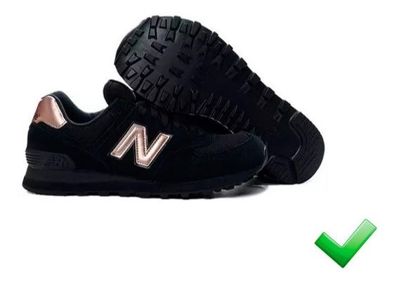 new balance mujer 574 negras gris